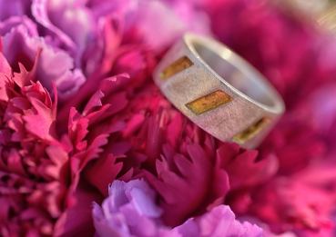 Golden Ring mit Blattgold