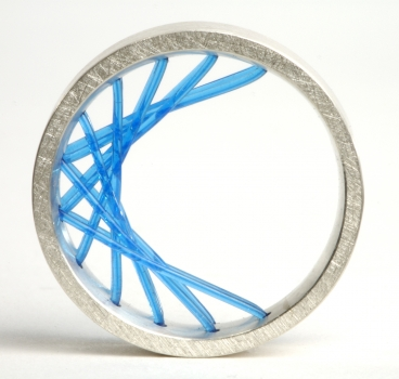Flexible Ring in Blau